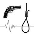 suicide stencil vector image vector image