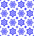 Texture with blue snowflakes vector image