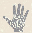 Typographical retro grunge birthday card