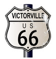 victorville route 66 sign vector image vector image