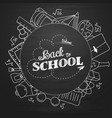 whiteboard back to school doodles with school vector image vector image