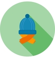 Warm Cap and Scarf vector image