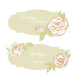 Vintage roses vector image