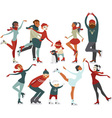 Ice rink people vector image