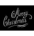 MERRY CHRISTMAS lettering handmade calligraphy vector image