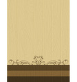 wooden background with decorative ornaments vector image