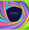 abstract curve rainbow colorful background vector image vector image