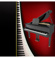 abstract grunge music background with grand piano vector image