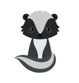 adorable cartoon sitting skunk vector image vector image