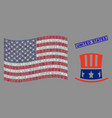 american flag stylization uncle sam hat and vector image vector image