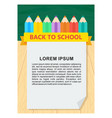 back to school pencil vector image vector image
