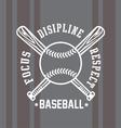 Baseball respect vector image