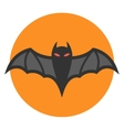 Bat icon flat vector image