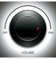 Big black volume knob vector image
