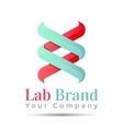 bio technology biology design DNA logo template vector image