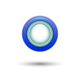 blue button for website vector image vector image