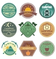 Camping Colored Emblems vector image vector image