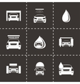car wash icons set vector image vector image