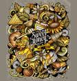 cartoon doodles honey colorful funny vector image