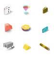 casino icons set isometric style vector image vector image