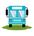 color silhouette of bus front view vector image