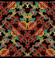 colorful baroque damask seamless pattern vector image vector image