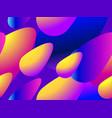 colorful liquid shape seamless pattern fluid vector image vector image