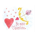 Congratulation card on Saint Valentines Day vector image vector image
