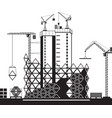 construction of high rise buildings vector image vector image
