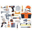 construction repair and renovation hand tools vector image vector image