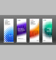 construction roll up banners design templates set vector image