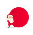 cute santa claus with bag christmas icon vector image vector image