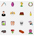 Death set icons vector image vector image