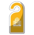 door hanger icon vector image
