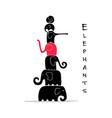 elephants family design vector image vector image