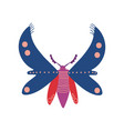 flying insect colorful butterfly top view vector image vector image