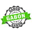 gabon round ribbon seal vector image vector image