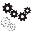 Gear wheels vector image vector image