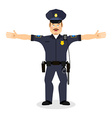 Good friendly cop happy Policeman Funny Face vector image vector image