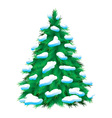 green fir tree vector image vector image