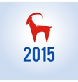 Happy new year 2015 Year of goat vector image