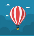 hot air balloon flat cartoon design vector image vector image