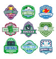 icons for soccer club football league team vector image vector image