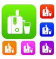 juicer set collection vector image vector image