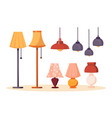 lamps and chandeliers collection vector image