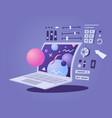 laptop design 3d modeling vector image vector image