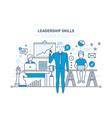 leadership skills leadership development vector image