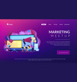 marketing meetup concept landing page vector image vector image