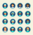 medical doctor icons set clinics hospital medicine vector image