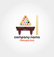 midnight pool - company name vector image vector image